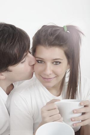 teenage couple: Happy teenage couple