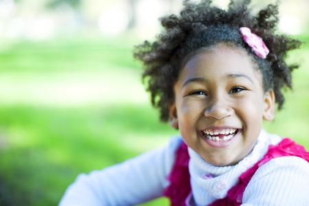 Happy african american little girl portrait Stock Photo