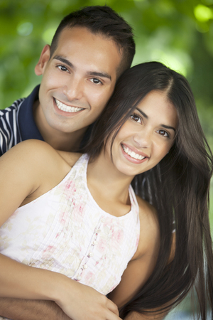 Happy young latin couple