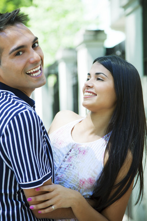 latin couple: Happy young latin couple