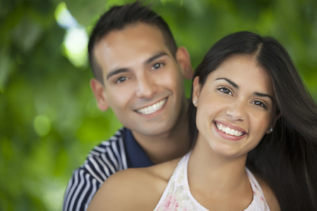 latin couple: Happy latin couple