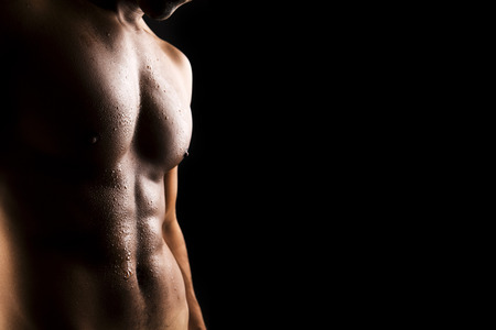 sexy abs: Sexy man body Stock Photo