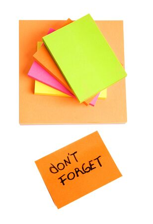 urgent announcement: Sticky notes