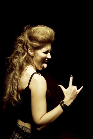 rocker: Rocker woman Stock Photo
