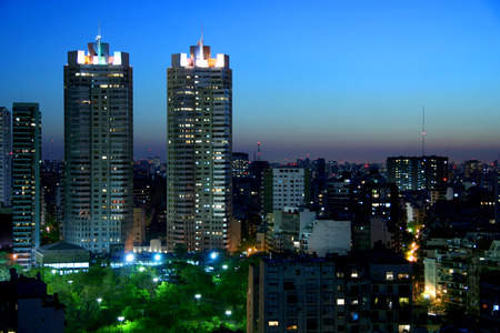 aires: Night in Buenos Aires city