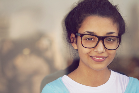 indian teenager: Young indian woman portrait Stock Photo