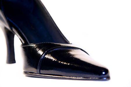 stilleto: Black shoe isolated
