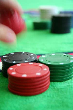 gamblers: Casino chips Stock Photo