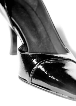 stilleto: Black shoe isolated on white