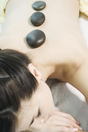 lastone: Woman relaxing in spa Stock Photo