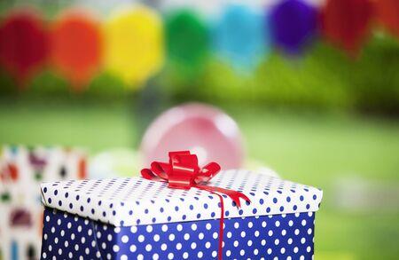 present box: Birthday presents Stock Photo
