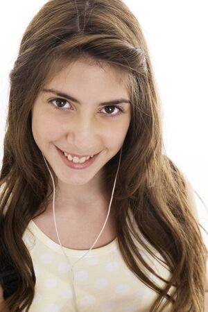 latin girl: Latin girl with earpods