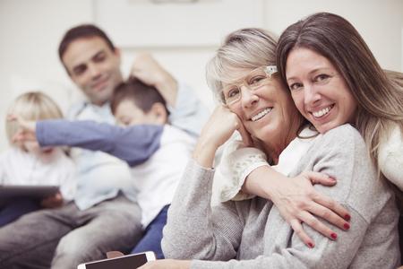 grand sons: Happy family portrait