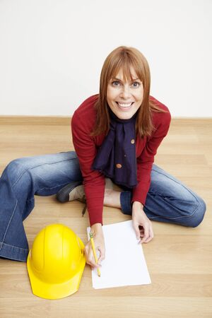 female architect: Female architect working