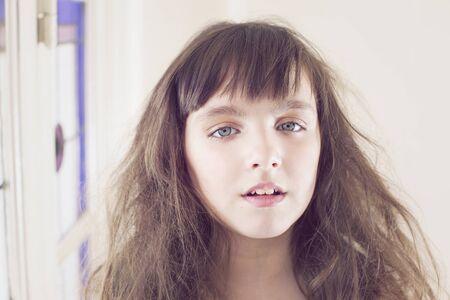 hait: Little girl with hait style