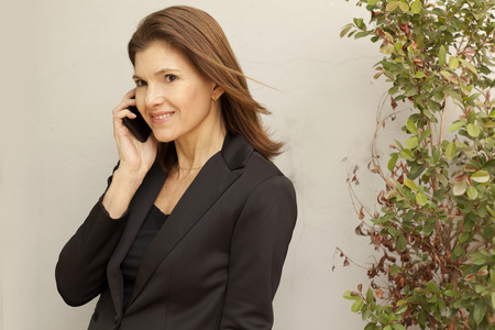 phone business: Business woman on the phone