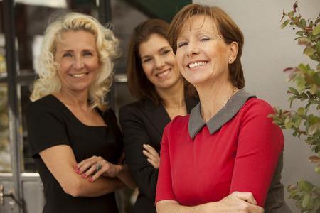 team leadership: Business adult women teamwork