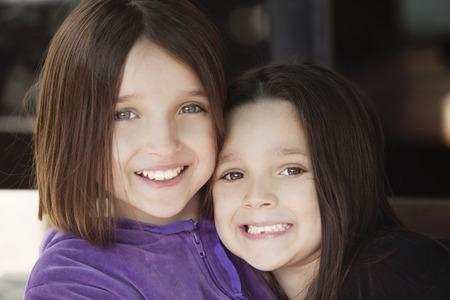 siblings: Happy siblings portrait Stock Photo