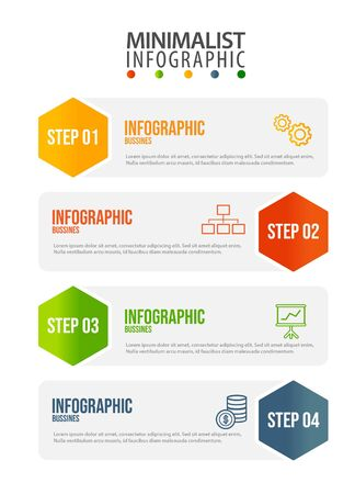 Business data visualization. Process chart. Abstract elements of graph, diagram with steps, options, parts or processes. Vector business template for presentation. Creative concept for infographic.