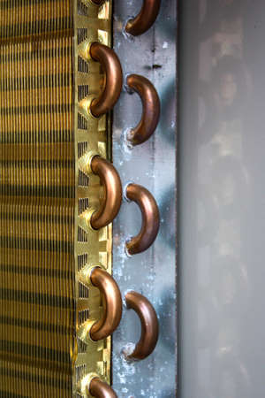 exchanger: Aluminum heat exchanger with copper pipes