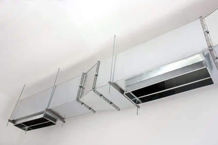 electric fixture: heavy ventilation ducts for air distribution