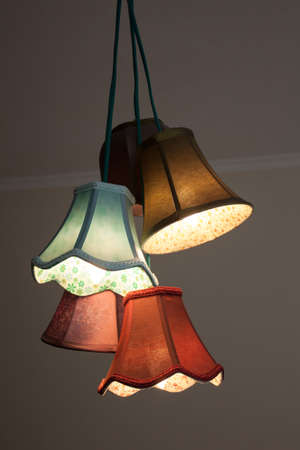 light chains: Colorful chandelier in the shape of flower