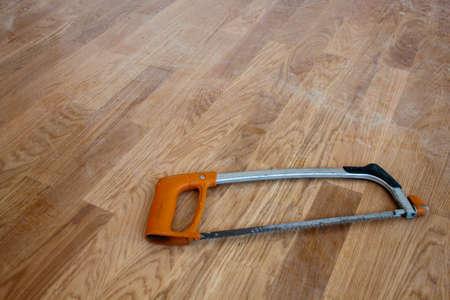 Naranja vio aislado en un fondo de madera Foto de archivo - 42287191
