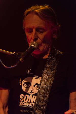 vivo: Bergamo, Italy. April 14st, 2017. Giorgio Canali and Rossofuoco performance at Live Druze. �,� � Brambilla Simone Photography  Live News