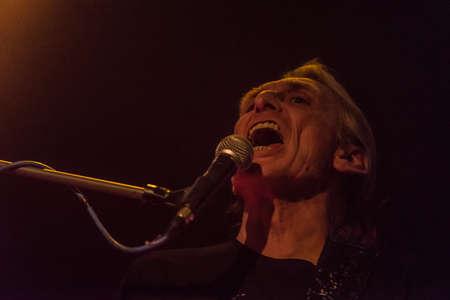 vivo: Bergamo, Italy. April 14st, 2017. Giorgio Canali and Rossofuoco performance at Live Druze. Ã,© Brambilla Simone Photography  Live News Editorial