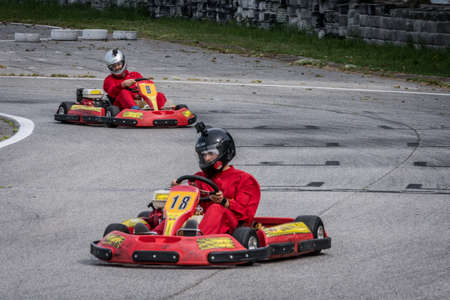 Cervia, Italy. 19st May, 2017. Go kart competition. Brambilla Simone Photography Live Sport News Stock Photo