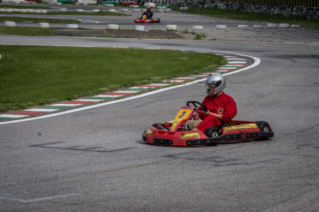 Cervia, Italy. 19st May, 2017. Go kart competition. Brambilla Simone Photography Live Sport News Editorial