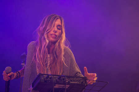 vivo: Bergamo, Italy. 15 July 2017. Italian rock singer Ambra Marie performs at the Ambria Music Festival. Brambilla Simone Photography Live News Editorial