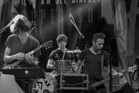 Bergamo, Italy. 21st July 2017. Italian rock band Liede performs at the Rock sul Serio festival. Brambilla Simone Photography Live News