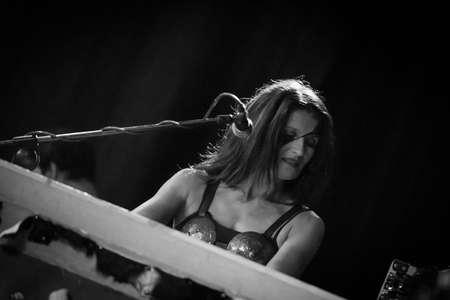 Bergamo, Italy. 30st July 2017. Italian folk metal rock band Diabula Rasa performs at the Malpaga Sounds. Brambilla Simone Photography Live News