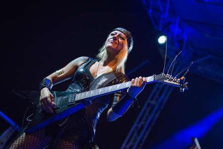 vivo: Bergamo, Italy. 30st July 2017. Italian folk metal rock band Diabula Rasa performs at the Malpaga Sounds. Brambilla Simone Photography Live News