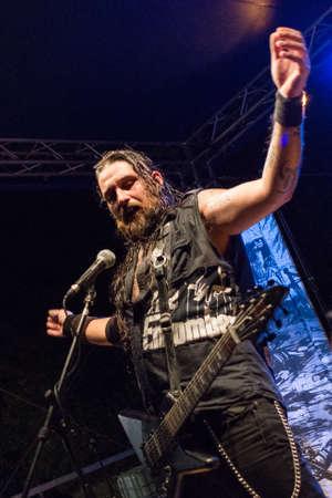 vivo: Bergamo, Italy. 26th August 2017. Rock Metal band Ulvedharr performs at the Pollo Metal Fest. Brambilla Simone Photography Live News