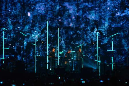 Milan, Italy. 17th October 2017. Icelandic post-rock band Sigur Ros performs at Mediolanum Forum. Brambilla Simone Photography Live News Editorial