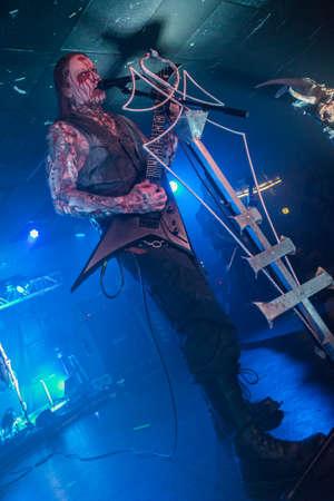 Brescia, Italy. 19 October 2017. Austrian extreme Blackened death metal band Belphegor performs at Circolo Colony. Brambilla Simone Photography Live News