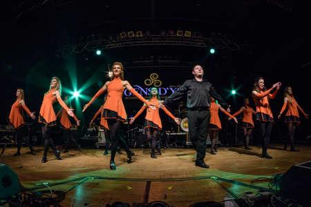 Milan, Italy. 16 March 2018. Irish dancers performs at Live Music Club for the Irish folk festival. Brambilla Simone Photography Live News