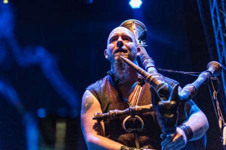 Bergamo, Italy - July 29, 2018: The Belgian Pagan-Folk Neo-Medieval band ACUS VACUUM performs at 6th Folk and Metal Fest of Malpaga (BG). Brambilla Simone Live News photographer
