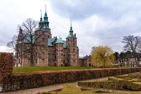 Rosemborg Castle Park in the city of Copenhagen in Denmark