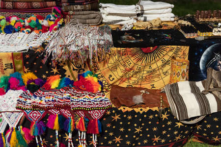 Ornamental objects from all over the world for sale in an ethnic market