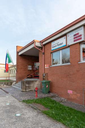 External view of school, Italian school building