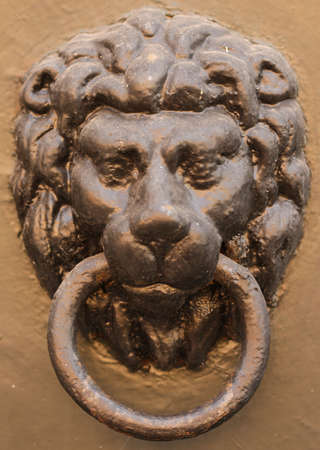 lionhead: Cast-iron lion-head doorknob