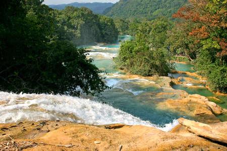 azul: Cataratas de Agua Azul Mexico