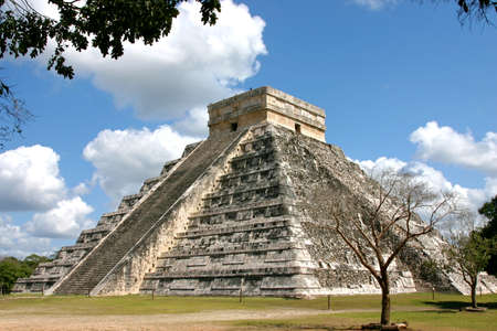 kukulkan: Temple of Kukulkan Chichen Itza Mexico