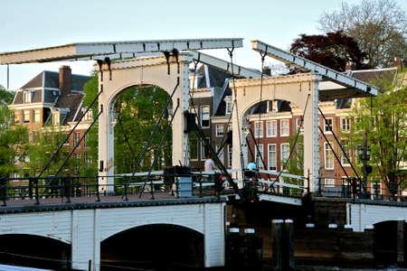 amstel: skinny bridge Amsterdam crossing the amstel river