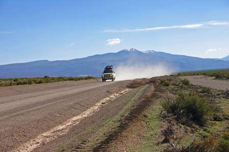 overland tour near salar de Uyuni Bolivia Stock Photo