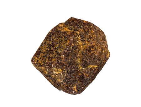 faceting: Garnet Crystal From MadagascarPakistan Isolated