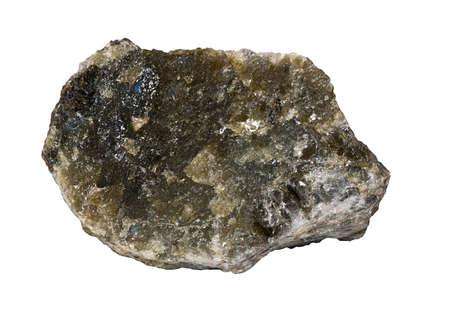 labradorite: Dark Labradorite from Madagascar Isolated Stock Photo